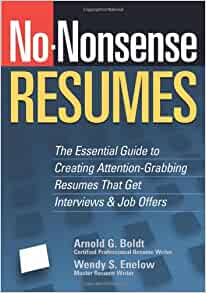 no nonsense resumes the essential guide to creating