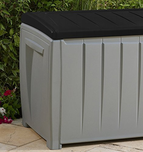 keter novel plastic deck storage container box outdoor
