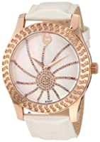 Brillier Women's 03-32421-07 Kalypso Rose-Tone White Leather Watch by Brillier