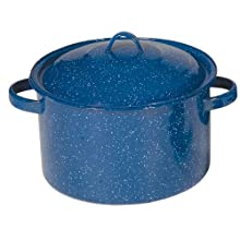 Stansport Enamel 11-Quart Straight Pot, Royal Blue
