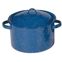 Stansport Enamel 11-Quart Straight Pot, Royal Blue
