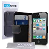 Case For The iPhone 4S 4 Siri Leather Wallet Flip Cover With Free Screen Protector From Yousave Accessories ~ Yousave Accessories