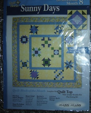 Quilt Block of the Month, Sunny Days Month 8 (Jack in the Pulpit, 12 1/2