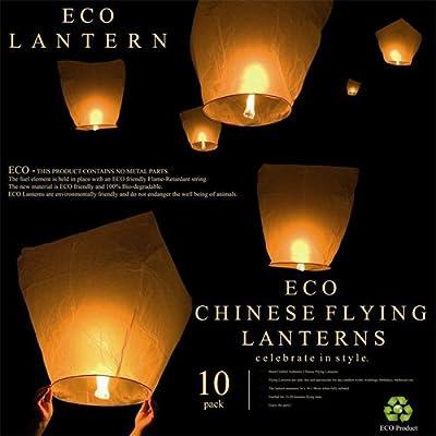Light A Lantern Sky Lanterns 10-pack White by Light a Lantern Sky Lantern