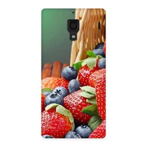 Stylish Delicious Straberry Multicolor Back Case Cover for Redmi 1S