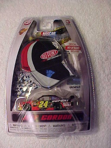 Jeff Gordon #24 Dupont Flames Chevy Impala SS COT 1/64 Scale Diecast & Bonus Mini-Replica Official Pit Cap Magnet 2010 Winners Circle Edition - 1