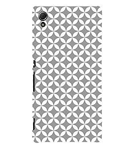 Grey Self Design 3D Hard Polycarbonate Designer Back Case Cover for Sony Xperia Z3+ :: Sony Xperia Z3 Plus