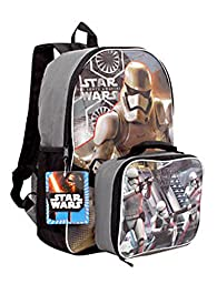 Star Wars the Force Awakens 16 Inch Backpack with Detachable Lunch Kit