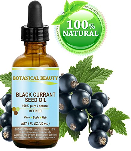 Black Currant Seed Oil. 100% Pure / Natural / Undiluted / Refined Cold Pressed Carrier Oil. 1 Fl.oz. - 30ml. For Skin, Hair, Lip And Nail Care.