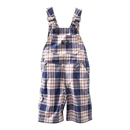 Plaid Sheeting Shortalls by OshKosh (9m)