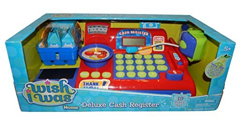 Deluxe Toy Cash Register : Wish i was deluxe cash register red business industrial