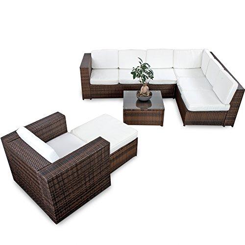 XINRO-22tlg-Polyrattan-Gartenmbel-Lounge-Set-Modell-2015-Polyrattan-Sitzgruppe-Loungembel-1x-Lounge-Sessel-Rattan-Garnitur-Sitzgruppe-InOutdoor-handgeflochten-braun