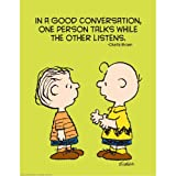 Peanuts Talk and Listen Poster - Classroom and Bulletin Board Decorations