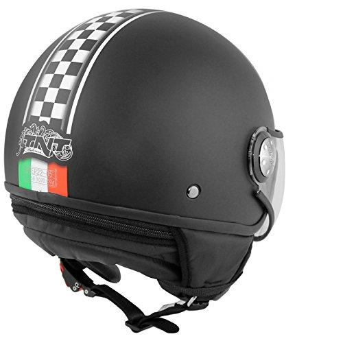 CASQUE 1/2 JET TNT PUCK CAFE RACER ITALIA L