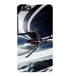PrintVisa Travel Skiing Adventure Design 3D Hard Polycarbonate Designer Back Case Cover for Huawei Honor 4C