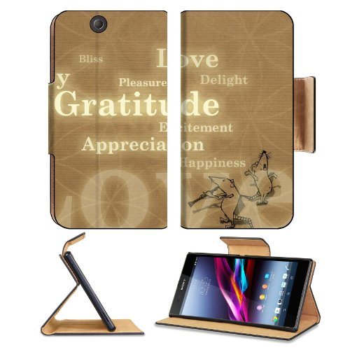 Words On Tan Floral Background Sony Xperia Z Ultra Flip Case Stand Magnetic Cover Open Ports Customized Made To Order Support Ready Premium Deluxe Pu Leather 7 1/4 Inch (185Mm) X 3 15/16 Inch (100Mm) X 9/16 Inch (14Mm) Msd Sony Xperia Z Ultra Cover Profes front-926745