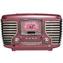 Crosley Radio Cr612-Pi Corsair Alarm Clock/Radio (Pink)