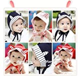1 * Purified Cotton Ears Modelling Baby Cap (Red)K0811-1