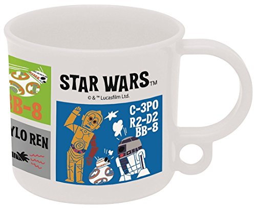 Japan Disney Official Star Wars the Force Awakens - Fancy BB-8 C-3PO and R2D2 Retro Comic Ver. Clear White Coffee Mug with Creative Hanging Hook Dinnerware Gift SKATER (Red Solo Pitcher compare prices)