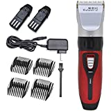 Professional Rechargeable Electric Hair Clipper Titanium Ceramic Hair Trimmer 4 Comb Set Haircut Machine For Men...