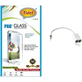 Tidel 2.5D Curved Tempered Glass Screen Guard Protector For Samsung Galaxy J7 (New 2016 Edition) With Audio Spliter