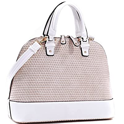 Dasein Dome Zip-Around Flat Bottom Fashion Ipad Bag, Handbag - Beige