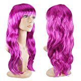 Women's Sexy Long Wave Curly Fancy Dress Wigs Cosplay Costume Ladies Full Wig Xmas, Haloween, Event and Surprise Party - Purple
