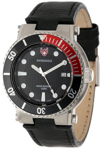 Swiss Eagle SE 9016-01 Covert dual strap Watch