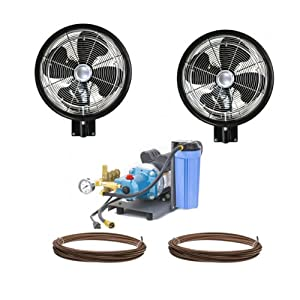 "Amazon.com : 2 HIGH PRESSURE - 18"" Oscillating Misting Fan Wall Mount"