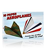 10 Paper Aeroplanes Toy Kit