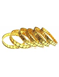 Shingar Jewellery Ksvk Jewels Antique Gold Plated Bangles Set For Women (9286-m-set-p)