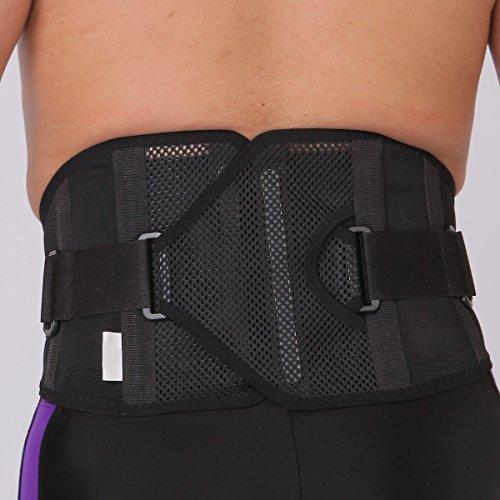 腰痛ベルト 【 パワフルギアタイプ 】 メッシュ コルセット 腰用 サポーター  【  LL (XL) 95-120cm 】男 女 兼用