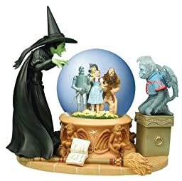 Westland Giftware Wicked Witch Peering at Foursome 100mm Musical Water Globe Collectible