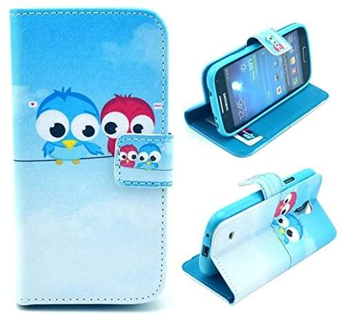 S4 Mini Case (Not for Regular S4 Case),Galaxy S4 Mini Case, Welity Retro Cute Owl PU Leather Wallet Type Magnet Design Flip Case Cover Credit Card Holder Pouch Case for Samsung Galaxy S4 Mini i9190 and one gift (Samsung Galaxy Mini Girl Cases compare prices)