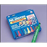 Mr Sketch Scented Water Color Markers with Plastic Tray - 4 7/8 x 3/4 - Set of 8 - Assorted Colors