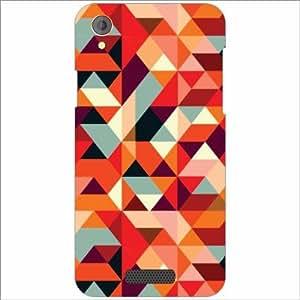 Lava Iris X1 Atom Back Cover - Silicon Triangled Designer Cases