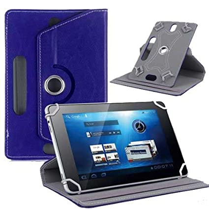 Hello-Zone-Exclusive-360°-Rotating-8-Inch-Flip-Case-Cover-Book-Cover-for-Sansui-ST81--Blue