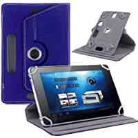 "Hello Zone Exclusive 360° Rotating 7"" Inch Flip Case Cover Book Cover For Datawind Ubislate 7DCX -Blue"