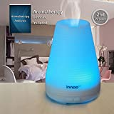Innoo Tech Essential Oil Diffuser | 100ml Aromatherapy Cool Mist Humidifier Aroma eBooks Included | 7 Changing Color LED Lights | Waterless Auto Shut-off for Home Bedroom SPA Yoga