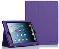 SUPCASE Apple iPad 4 & iPad 3 with Retina Display Slim Fit Folio Leather Case (Purple) - Elastic Hand Strap, Support Auto Wake/Sleep, Compatible with iPad 2, Not Fit iPad 5 by SUPCASE