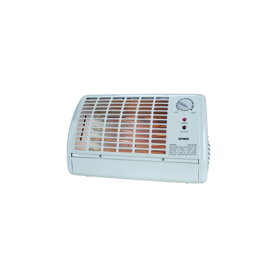 OPTIMUS H 2210 PORTABLE FAN FORCED RADIANT HEATER WITH THERMOSTAT
