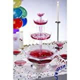 UZO1 Illuminated / Lighted Party Beverage Fountain (Punch Bowl), Operates on both Electric and Batteries for Outdoor Use, 2 Gal Capacity