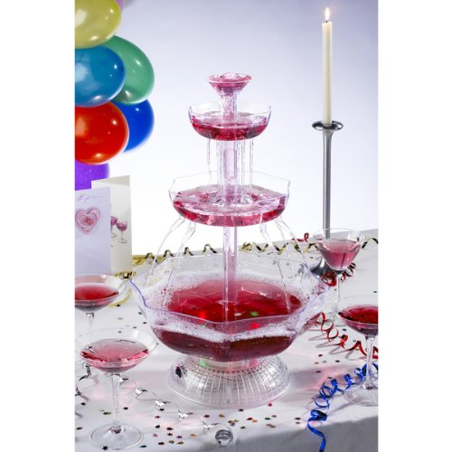 Great Features Of UZO1 Illuminated / Lighted Party Beverage Fountain (Punch Bowl), Operates on both ...