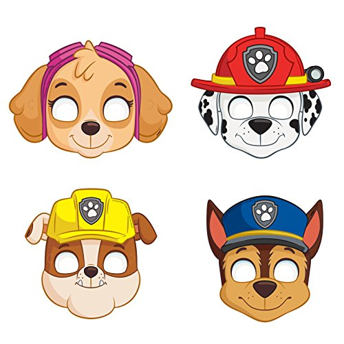 PAW Patrol Party Masks, Assorted 8ct (Paper Mask Party compare prices)