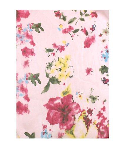 Modadorn 214 Misty Flower Chiffon Scarf