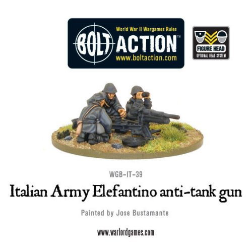 47mm Italian Army Elefantino Anti-tank Gun Miniature - 1