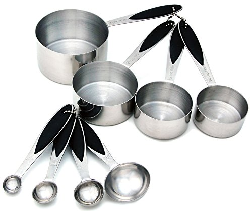Spring Chef Measuring Cups and Spoons, Stainless Steel 8 Pie