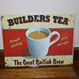 Martin Wiscombe Builders Tea Metal Sign
