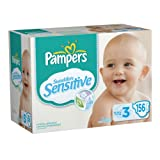 Pampers Swaddlers Sensitive Diapers Economy Pack Plus Size 3, 156 Count