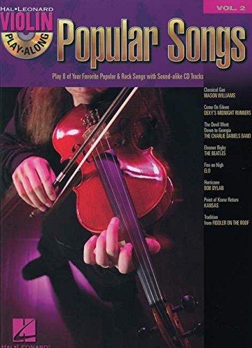 Violin Play Along Vol.2 Popular Songs CD (Hal Leonard Violin Play Along)